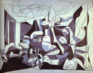 Pablo Picasso, Guernica - detaliu
